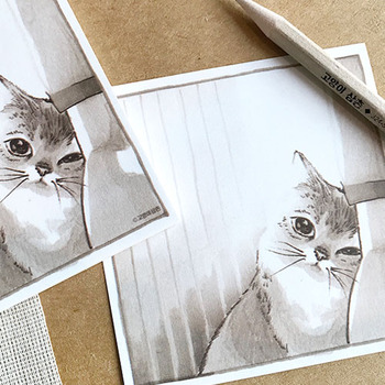 MEMOPAD - My cat, J