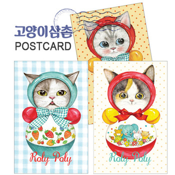 "Postcard series ""ROLY POLY"""