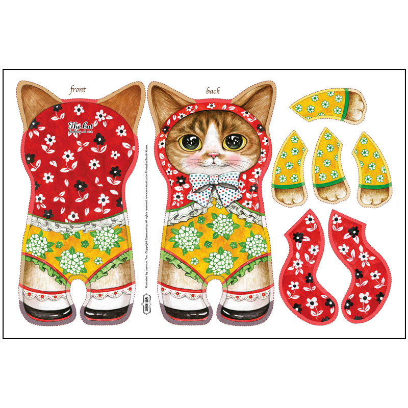 DIY FABRIC for making cat doll ET