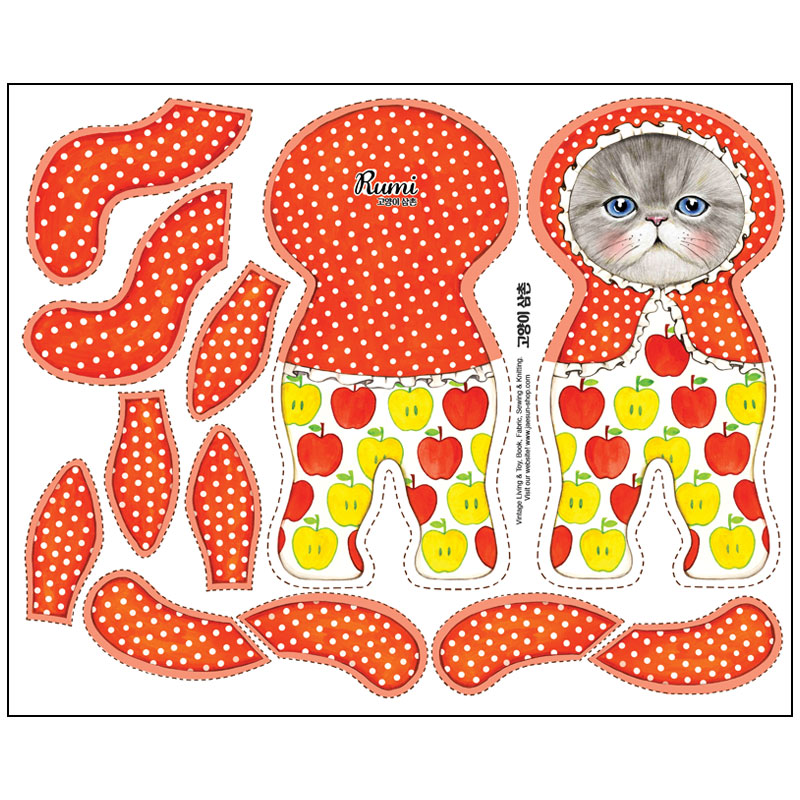 DIY FABRIC for making cat doll BUNNYCAT
