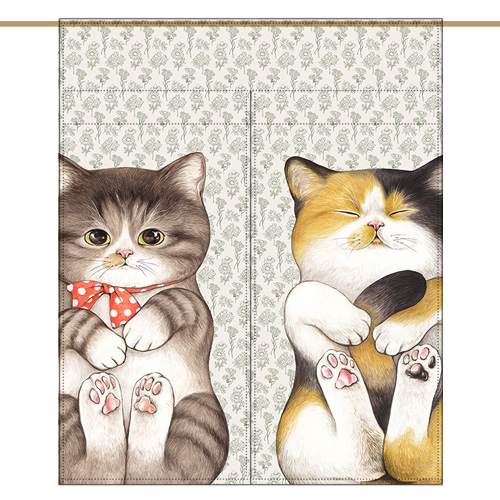 Mini curtain - TWO CATS Vol.3 (84✕98cm)