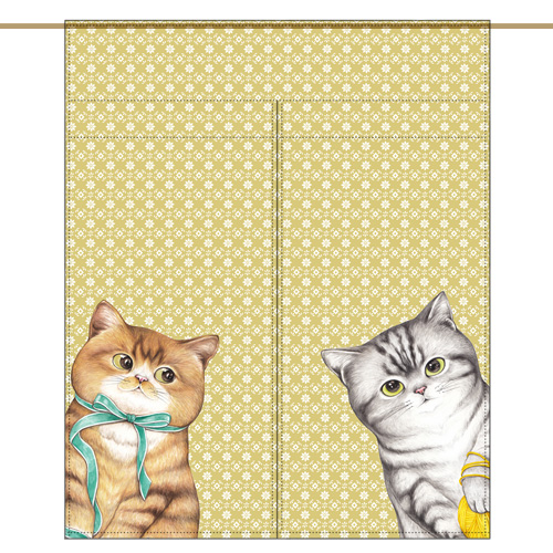 Mini curtain - TWO CATS Vol.2 (84✕98cm)