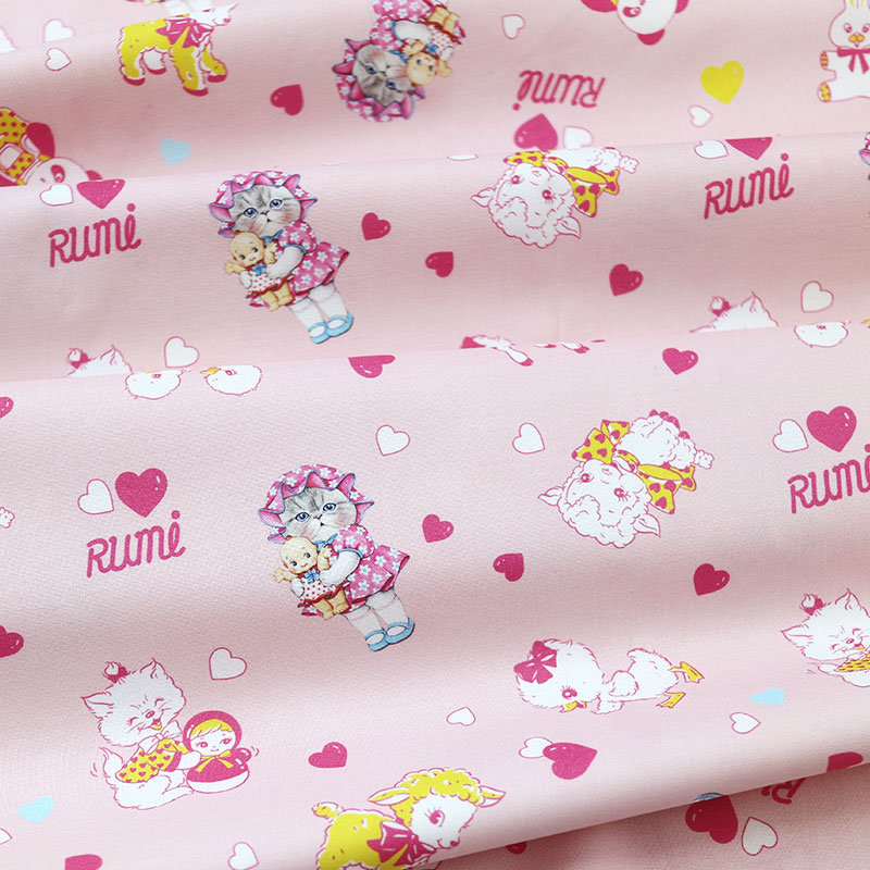 Pattern series - Rumi with vintage toys (Pink, 110✕90cm)