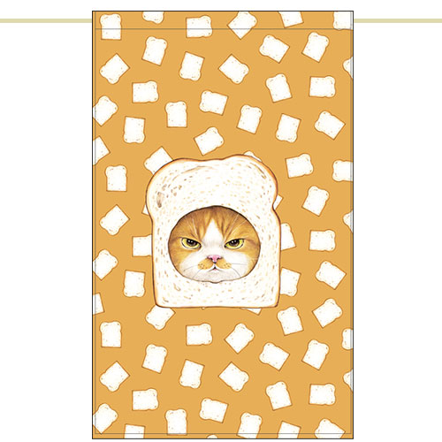 Side curtain - Plain bread cat (51✕81cm)
