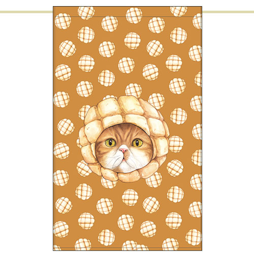 Side curtain - Melon bread cat (51✕81cm)