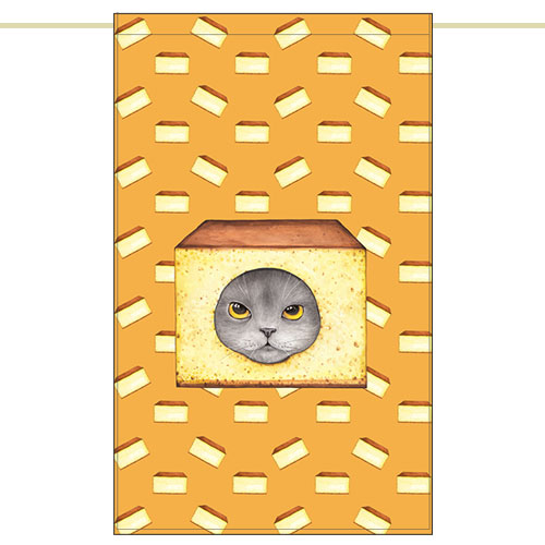 Side curtain - Castella cat (51✕81cm)