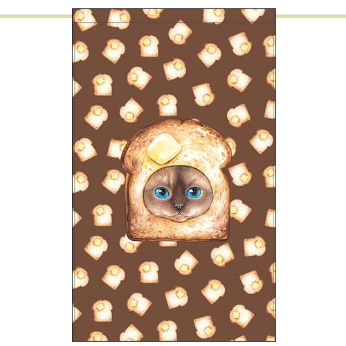 Side curtain - Burnt bread cat (51✕81cm)