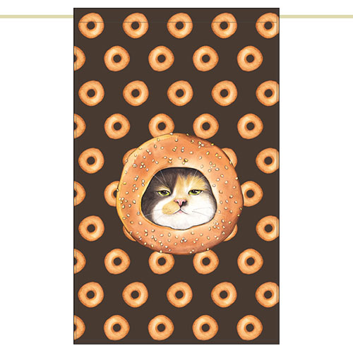 Side curtain - Doughnut cat (51✕81cm)